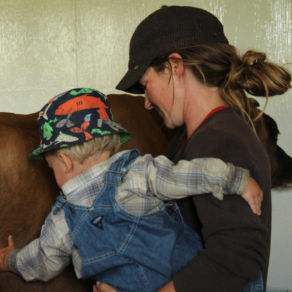 Clyde helps out Sam in the milk shed