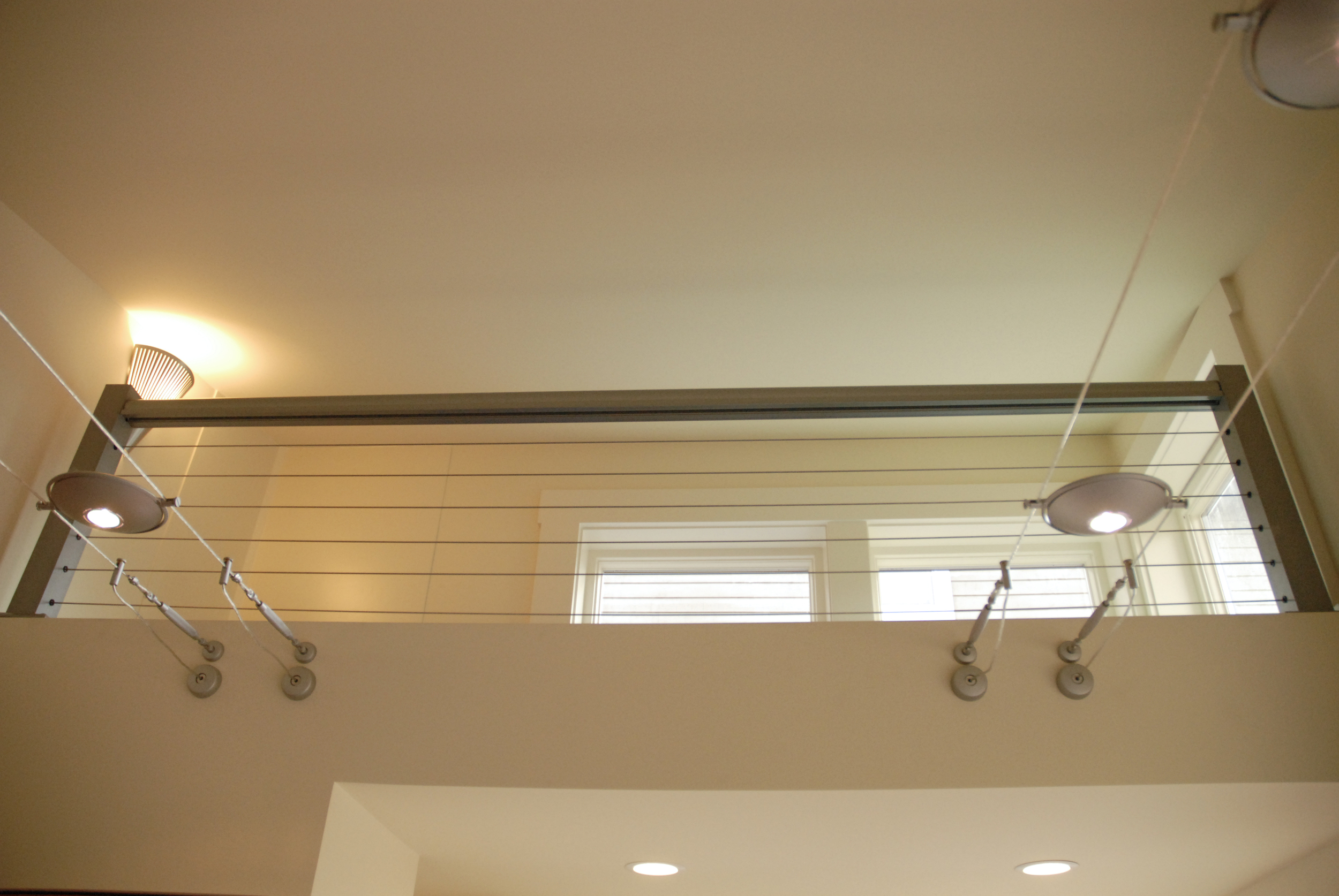 Custom cable railing secures loft