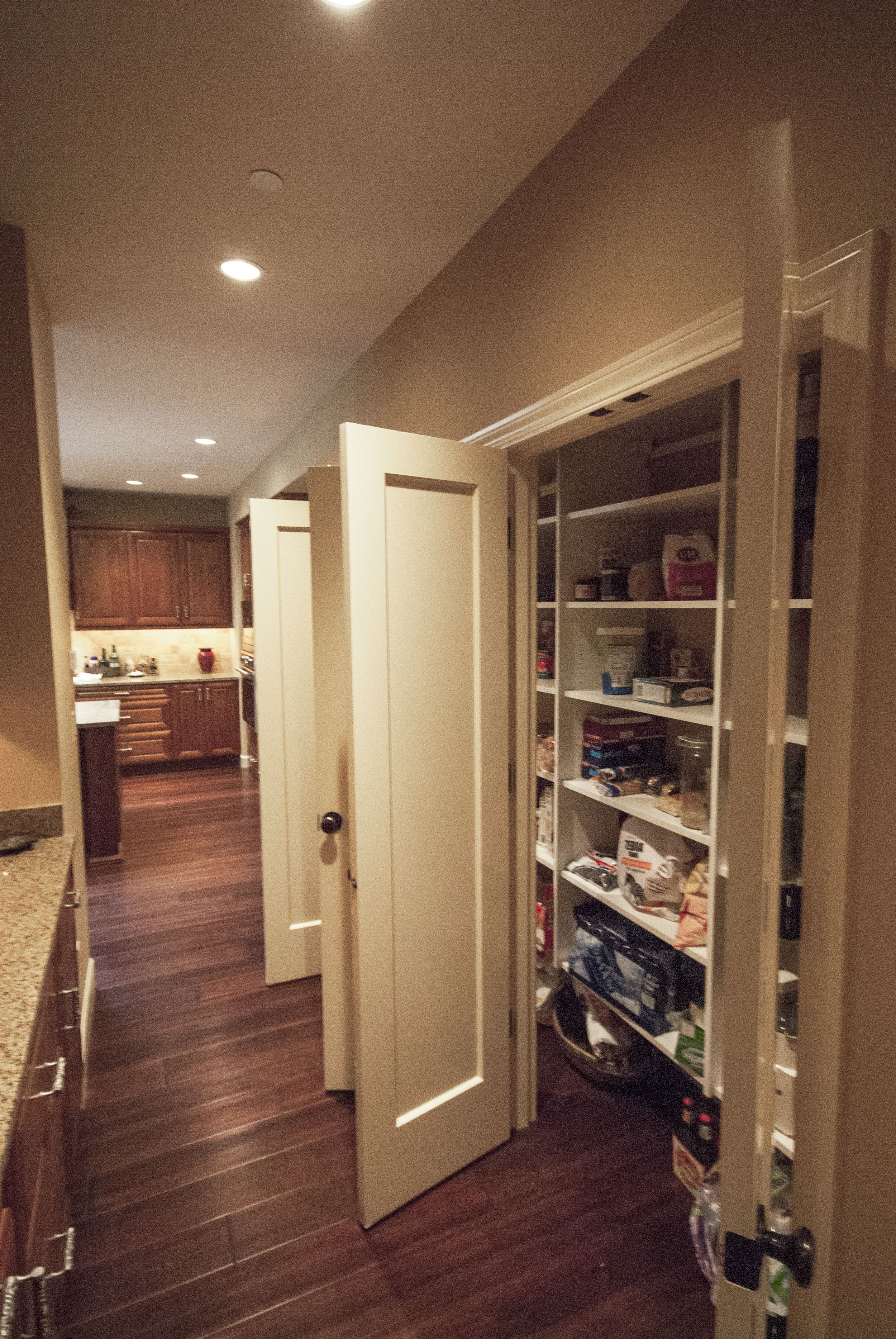 Opposite is a huge pantry.