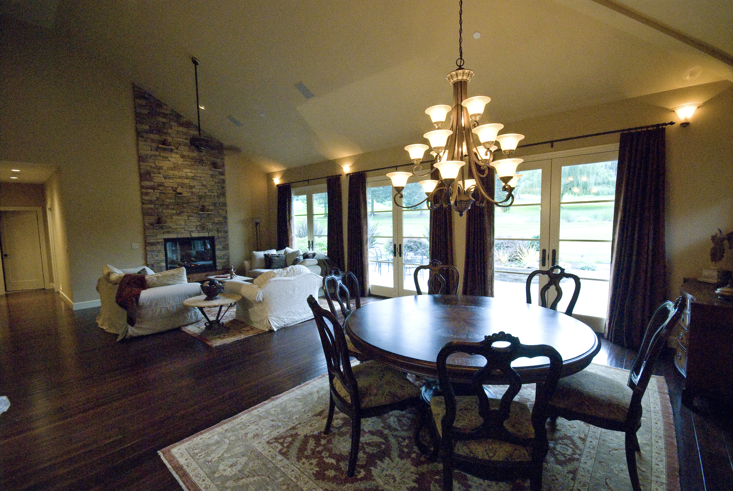 The dining room is great for entertaining and has a fabulous view of the golf course.