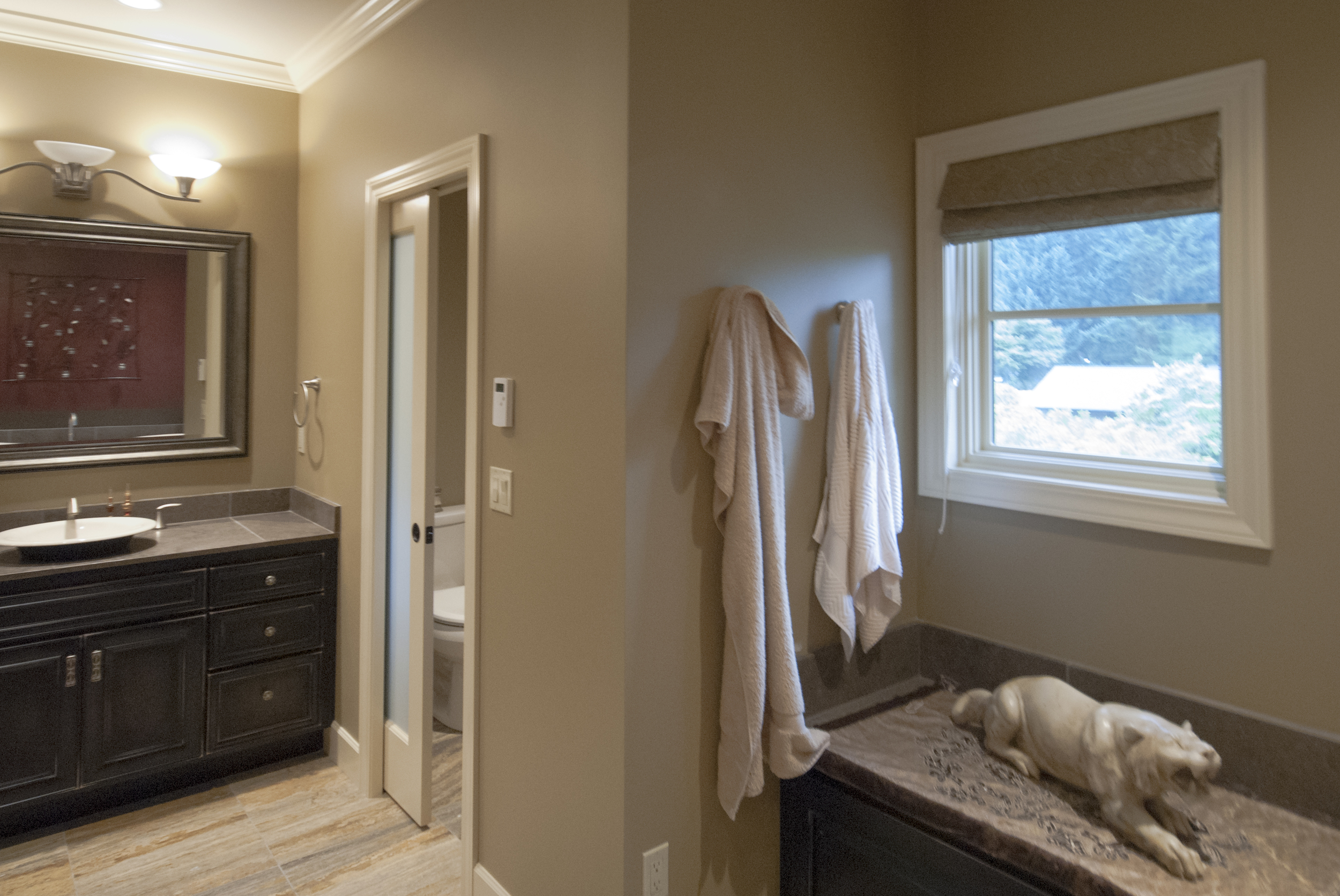 Nothing can beat a day at the spa and all the better is everyday is a day at the spa - this was our design directive.  The master bath is expansive covering about 250 square feet.