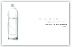 The Jade Aquifer Company Information Memorandum is an example of a brand story told in its longest form, complete with Market Analysis, Competitor Analysis, and Market Positioning.     We take what can often be complex business information, and present it in a way that allows people to access a greater level of understanding more quickly.    We do this through careful design of the information architecture, and then with compelling story telling.   For more detail on information memorandums please  contact us