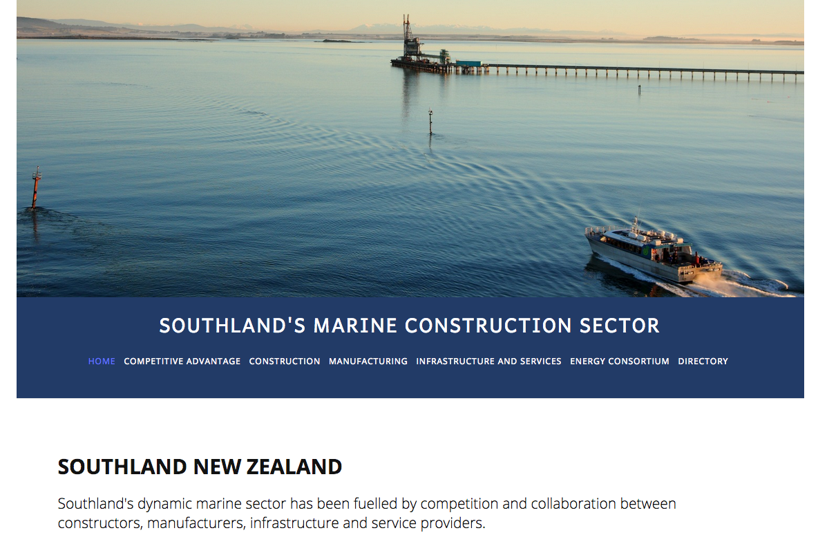Ten years ago, we were asked by Venture Southland to create a profile for Southland's Marine Sector. Last year, we were asked to update the profile, which we turned into an online resource.   > See Here