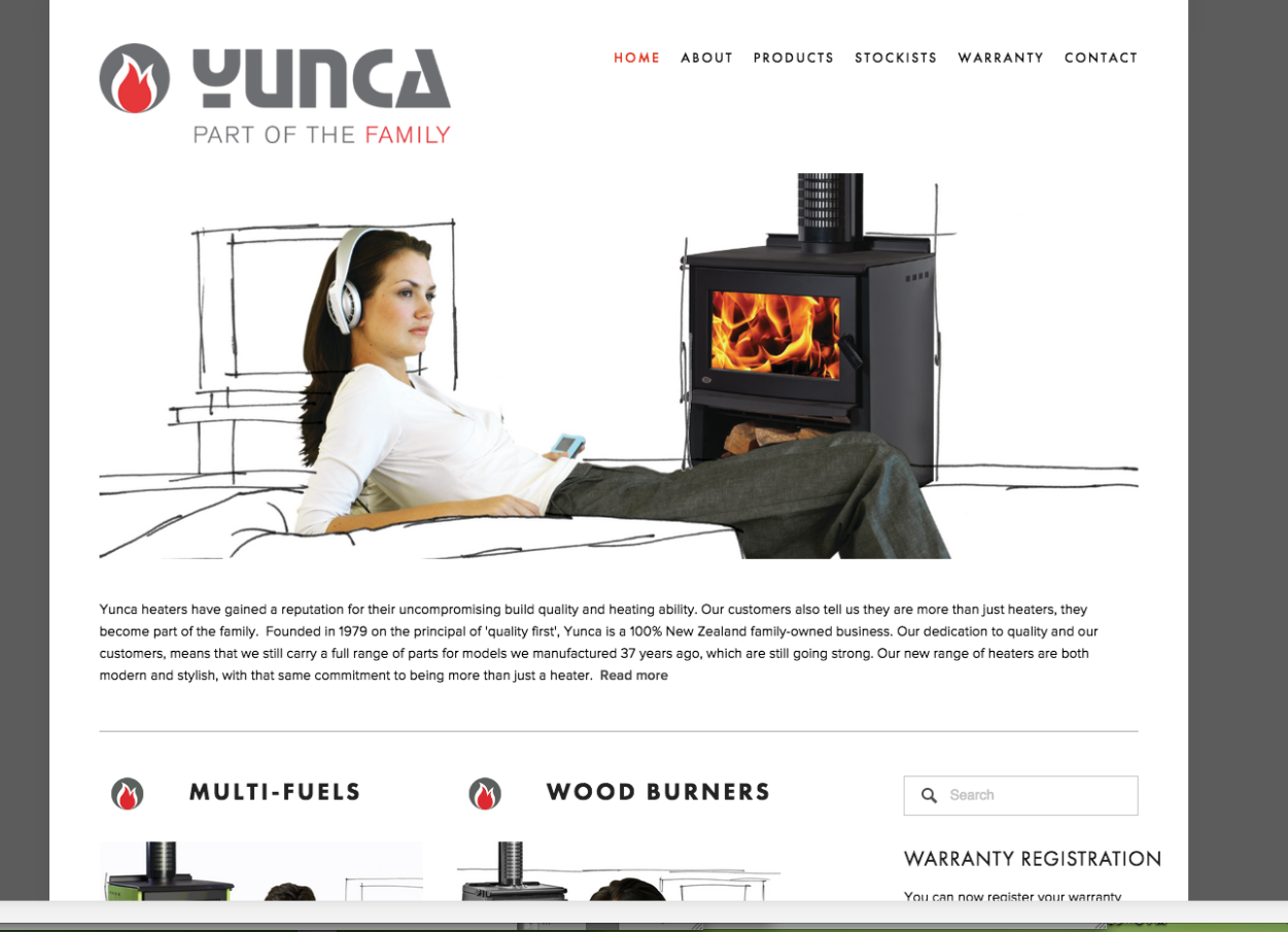Ten years ago, in fact Carryn's very first project with the BrandCom team, she helped rebrand Yunca Heating, this year we launched the new and updated website, which freshens the brand and gives it a decade old facelift to match the company's invigorated push of their products, including the introduction of Oscar, their new wood burner.   > View Website