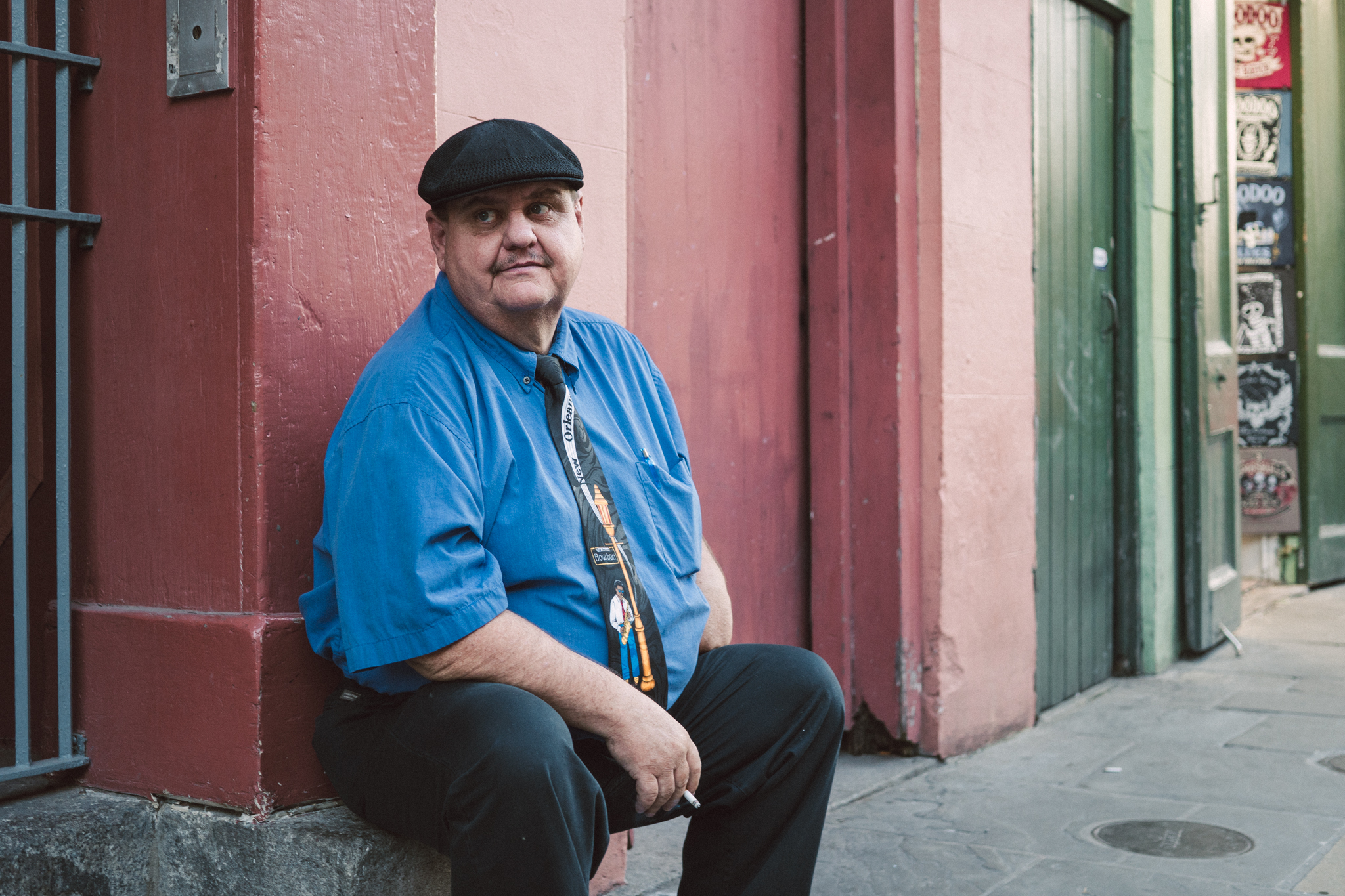A shopkeeper in the French Quarter.