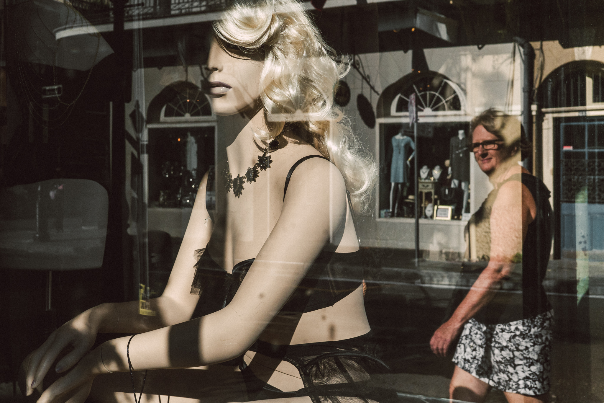 A lingerie shop in the French Quarter.