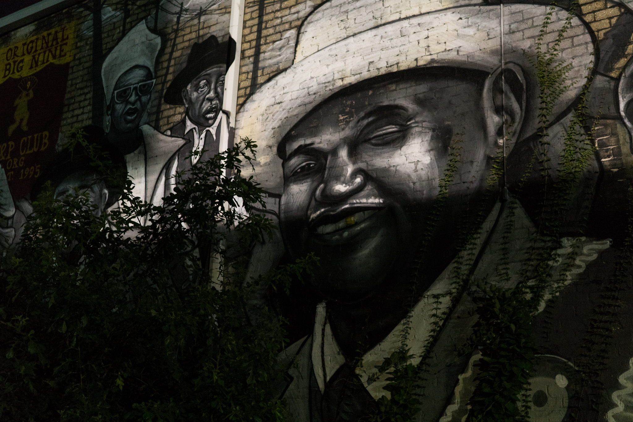 A mural on St. Clause in the Marigny neighborhood of New Orleans.