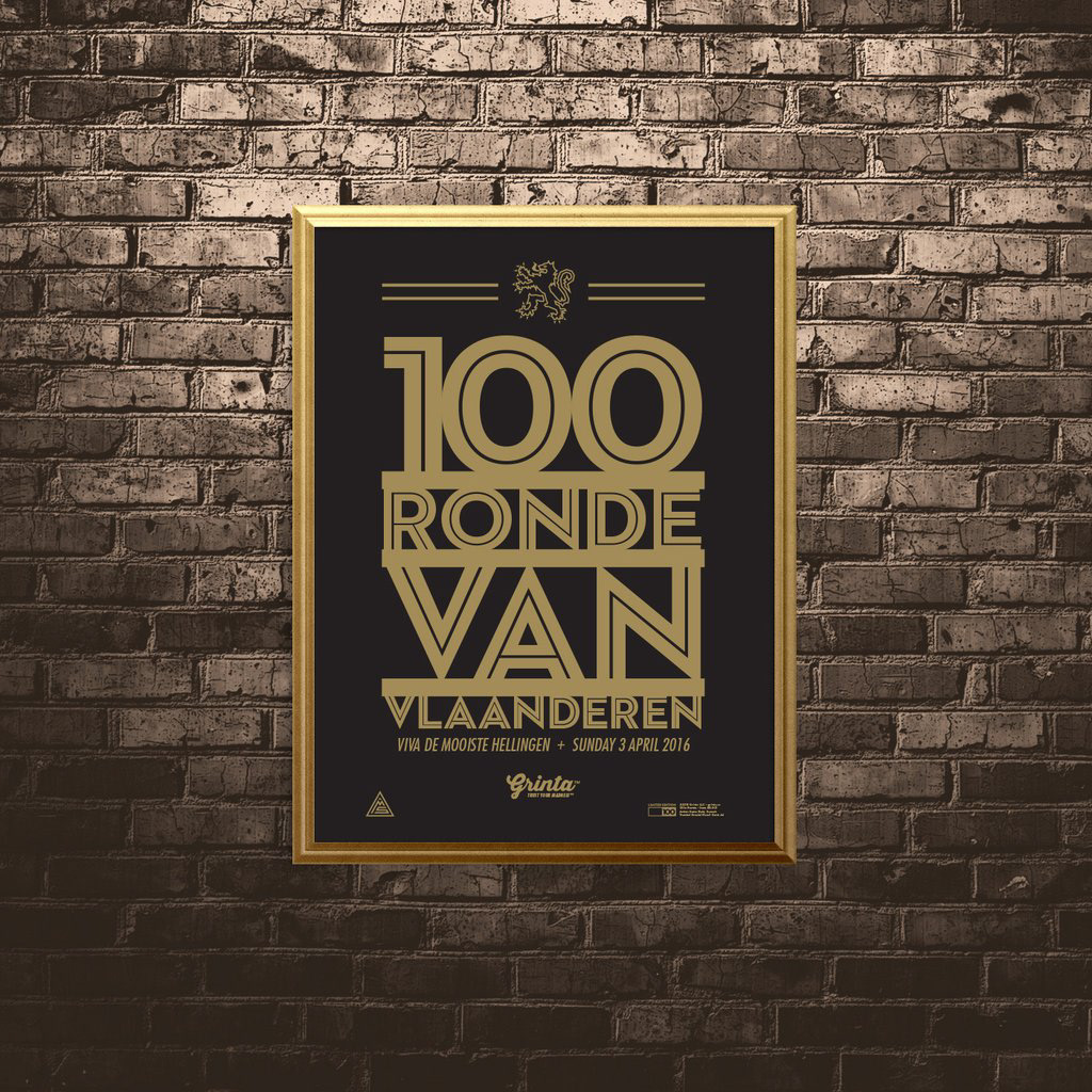 Grinta Poster - 100th Typography