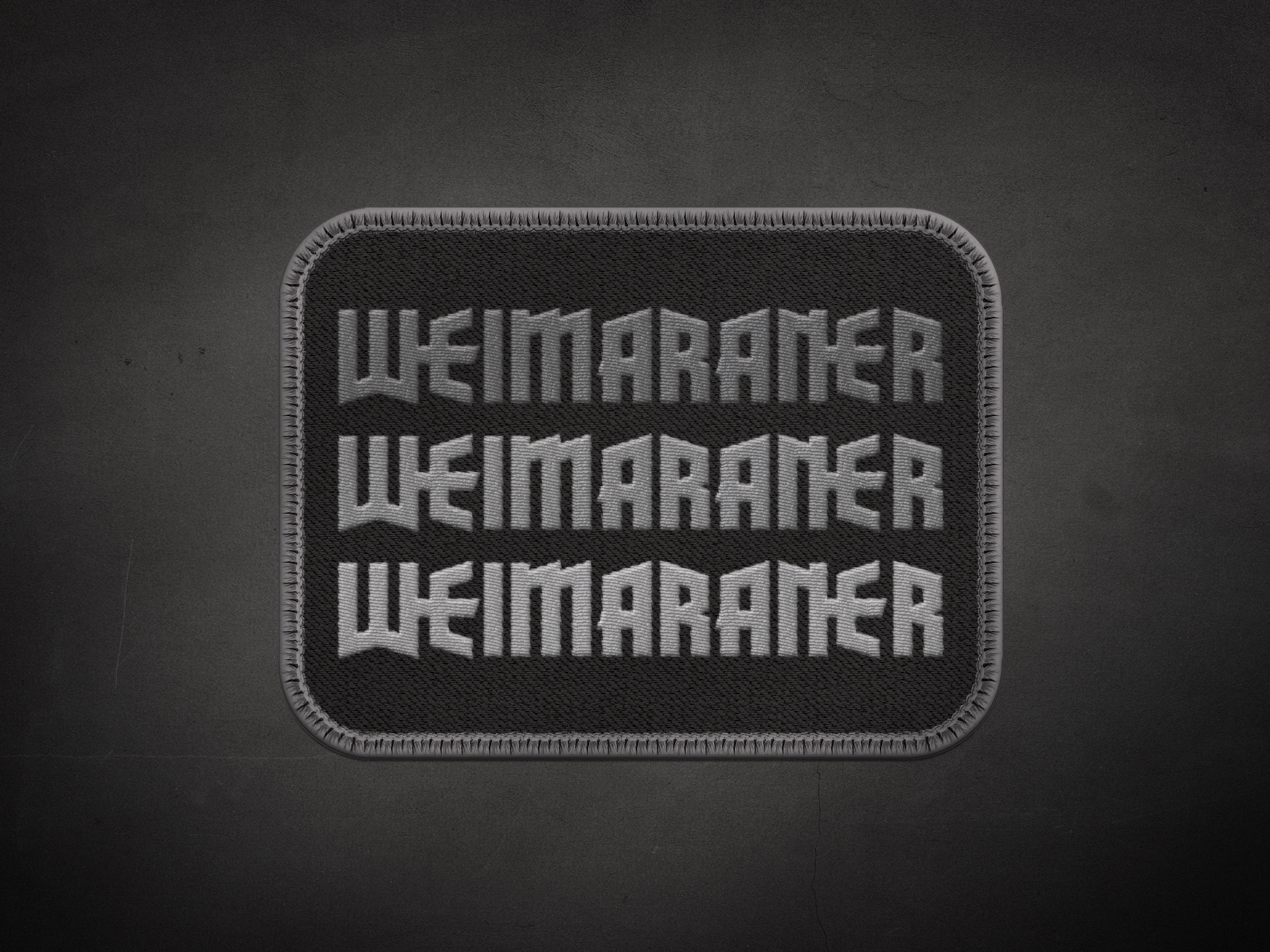 Weimaraner Stack Logotype Patch