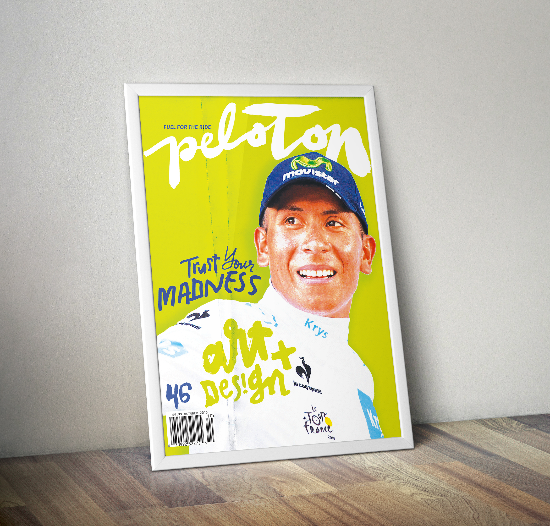 Peloton Magazine #46 Nairo Quintana Subscription Cover - Poster