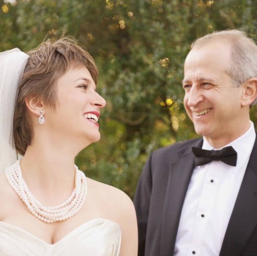 My dad and I at my wedding, October 2012