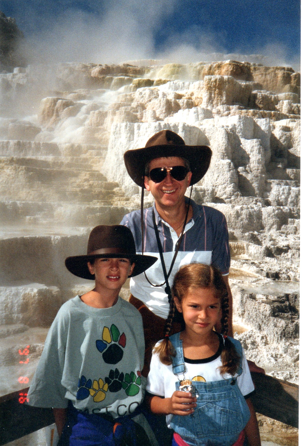 My dad and his two daughters in Yellowstone. This would be the trip where I begged and pleaded to use his video camera... (I am the dork in the cowboy hat!)