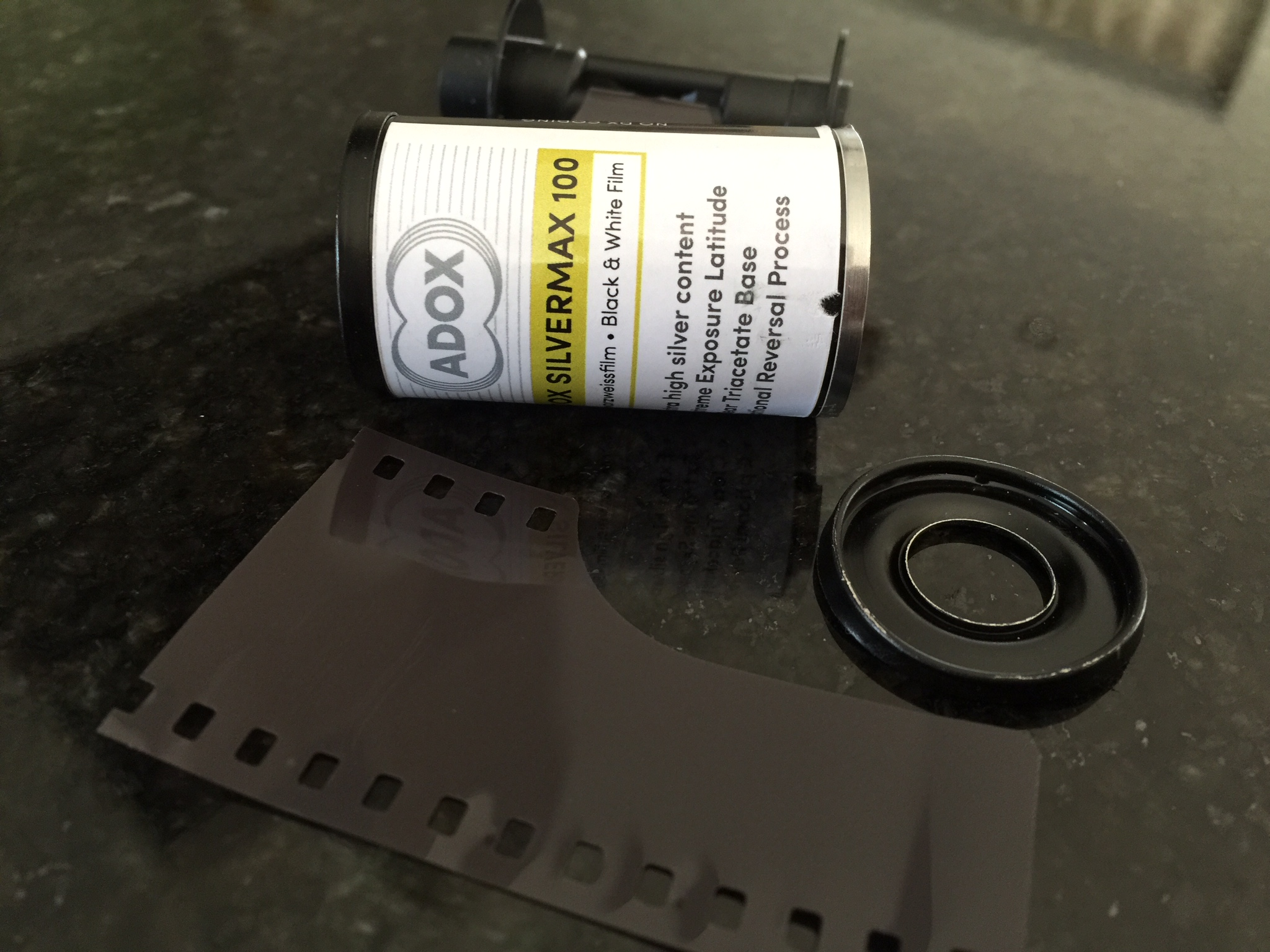 Canister guts left over after extracting the film for developing