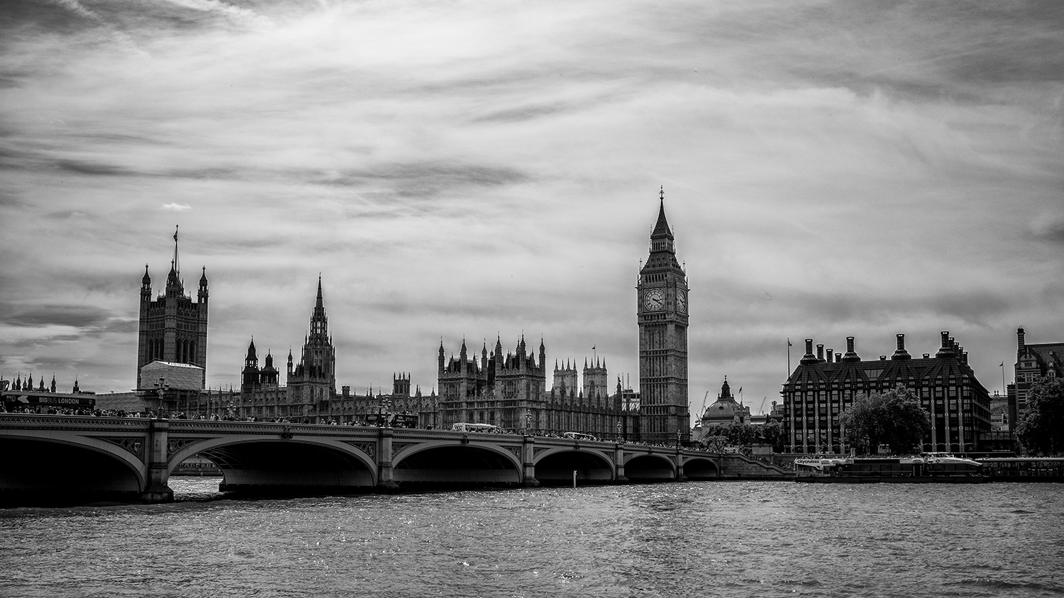 Big Ben and Parliament as seen from across the river. Black and White conversion done in Nik Silver Effects 2 (shot in RAW).