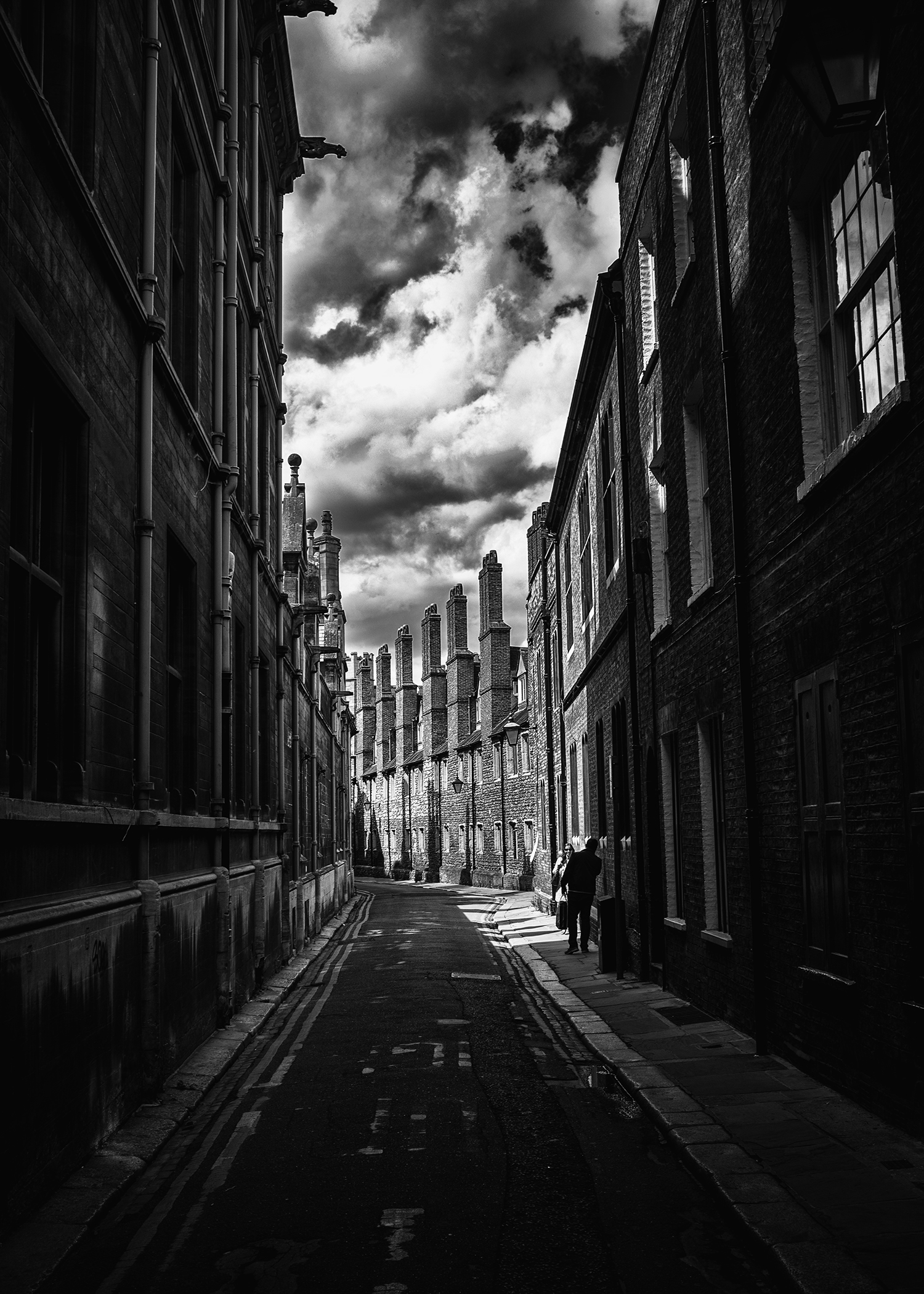 My favorite street in Cambridge. Edited in Nik Silver Effects 2.