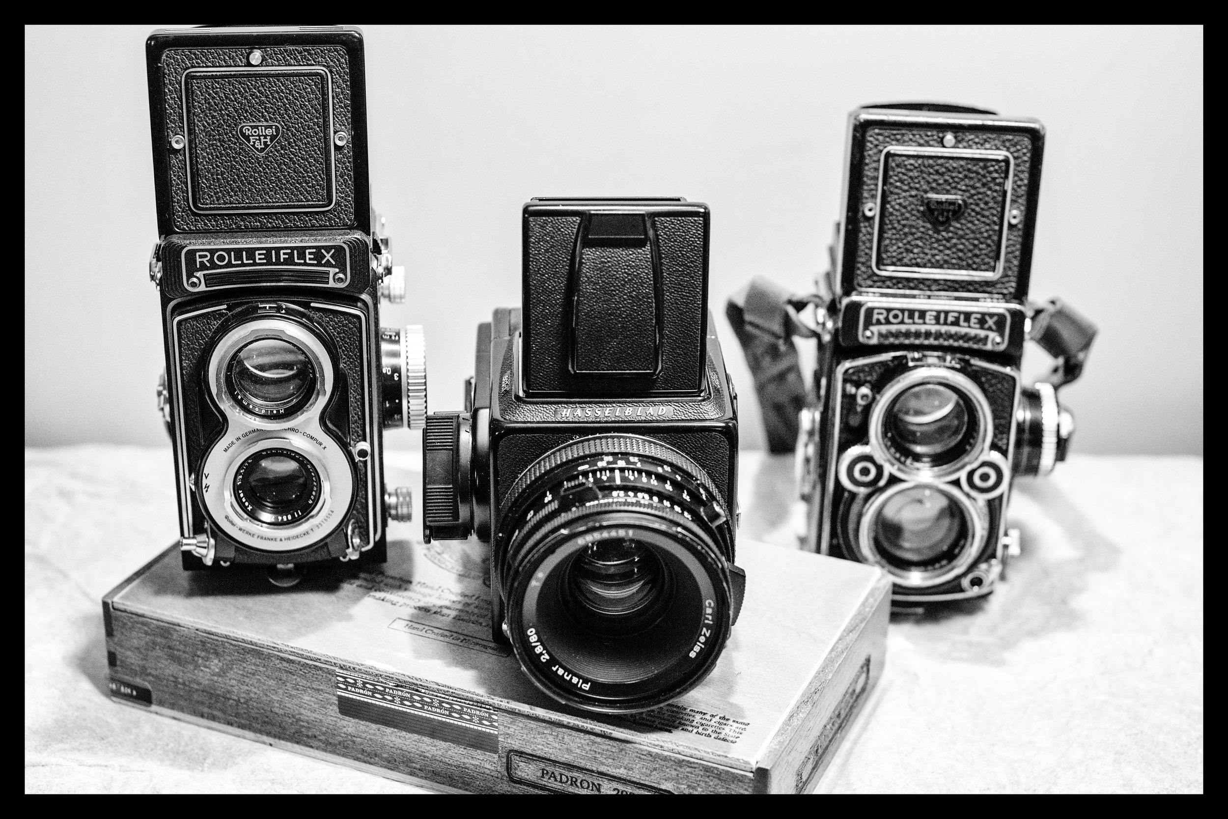 My collection - Rolleiflex T whiteface, Hasselblad 503CX and a Rolleiflex 2.8F