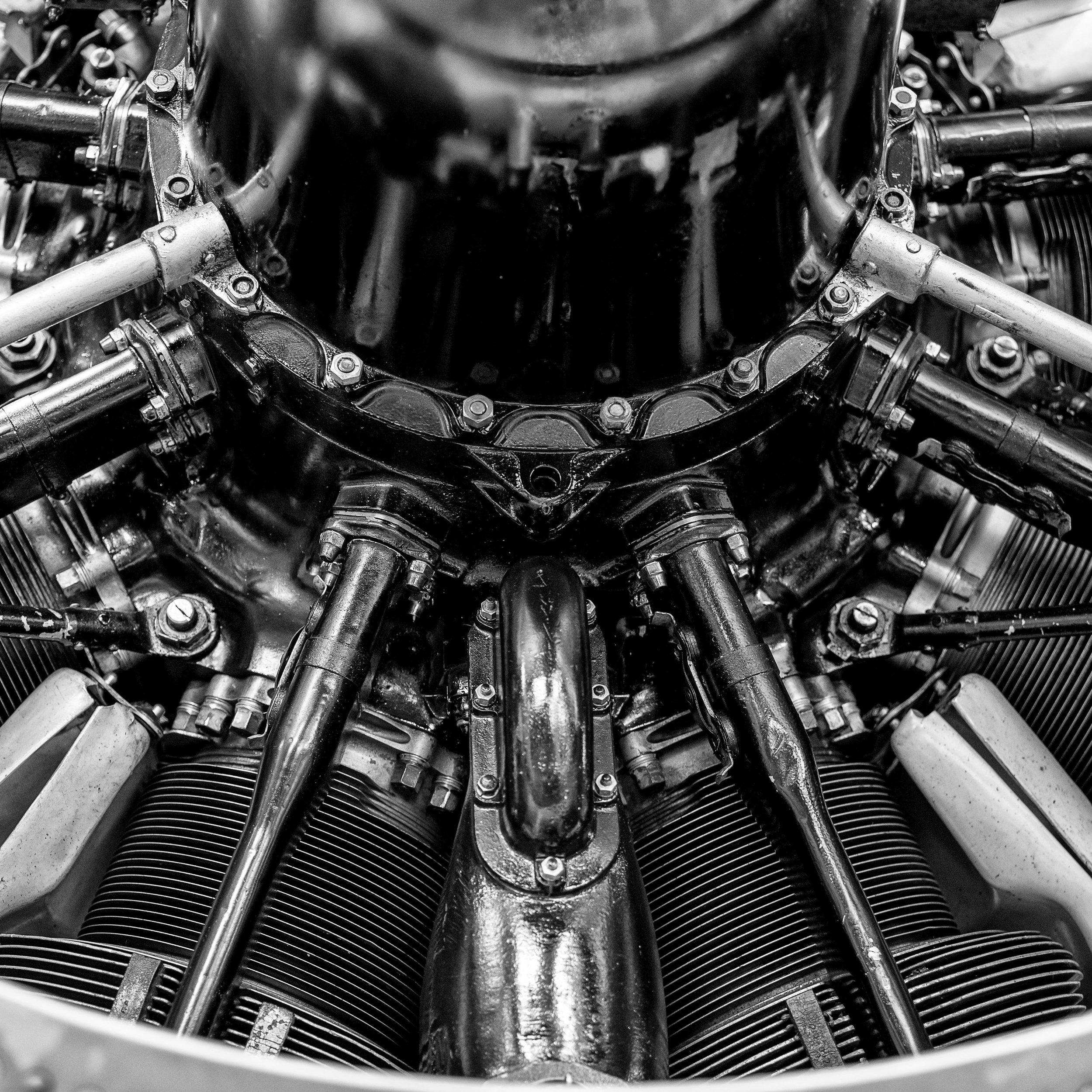 1938 Westland Lysander engine