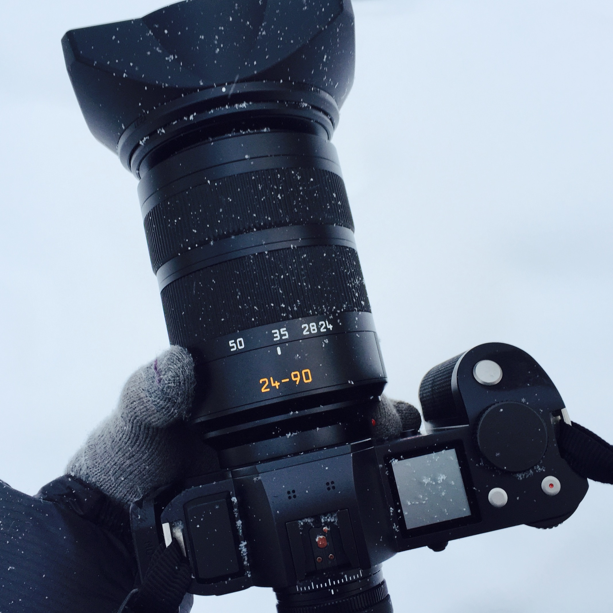 Weather sealing, one of the selling points of the Leica SL, was critical in this environment. I also was extra careful to turn off the camera during long periods between shots to preserve precious battery life. PS - that's the Really Right Stuff L-plate on the camera.
