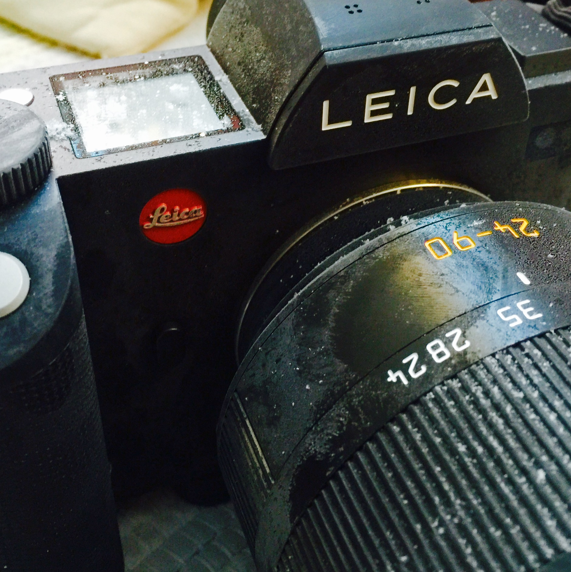 """I might be crazy to subject a camera this expensive to conditions like this.... but the Leica SL proved it has a """"don't give a damn"""" attitude about the cold!"""