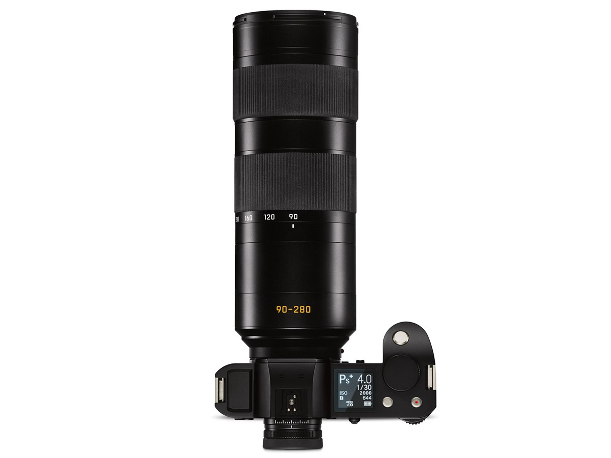 Stock photograph of the 90-280mm lens mounted on the Leica SL body. Image from LeicaRumors.com