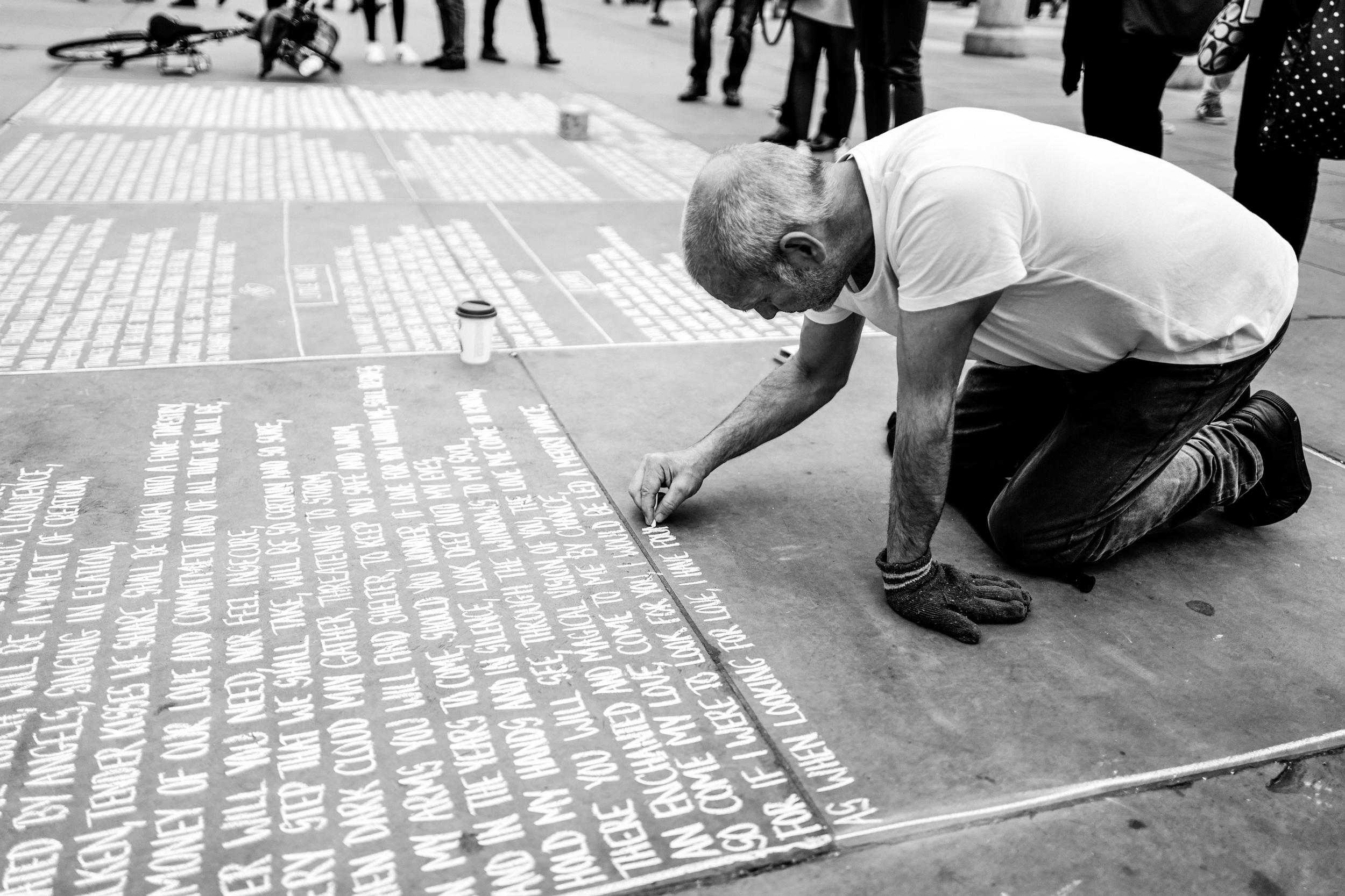 """""""Poetry Slam"""" - Leica Q at Trafalgar Square, London"""