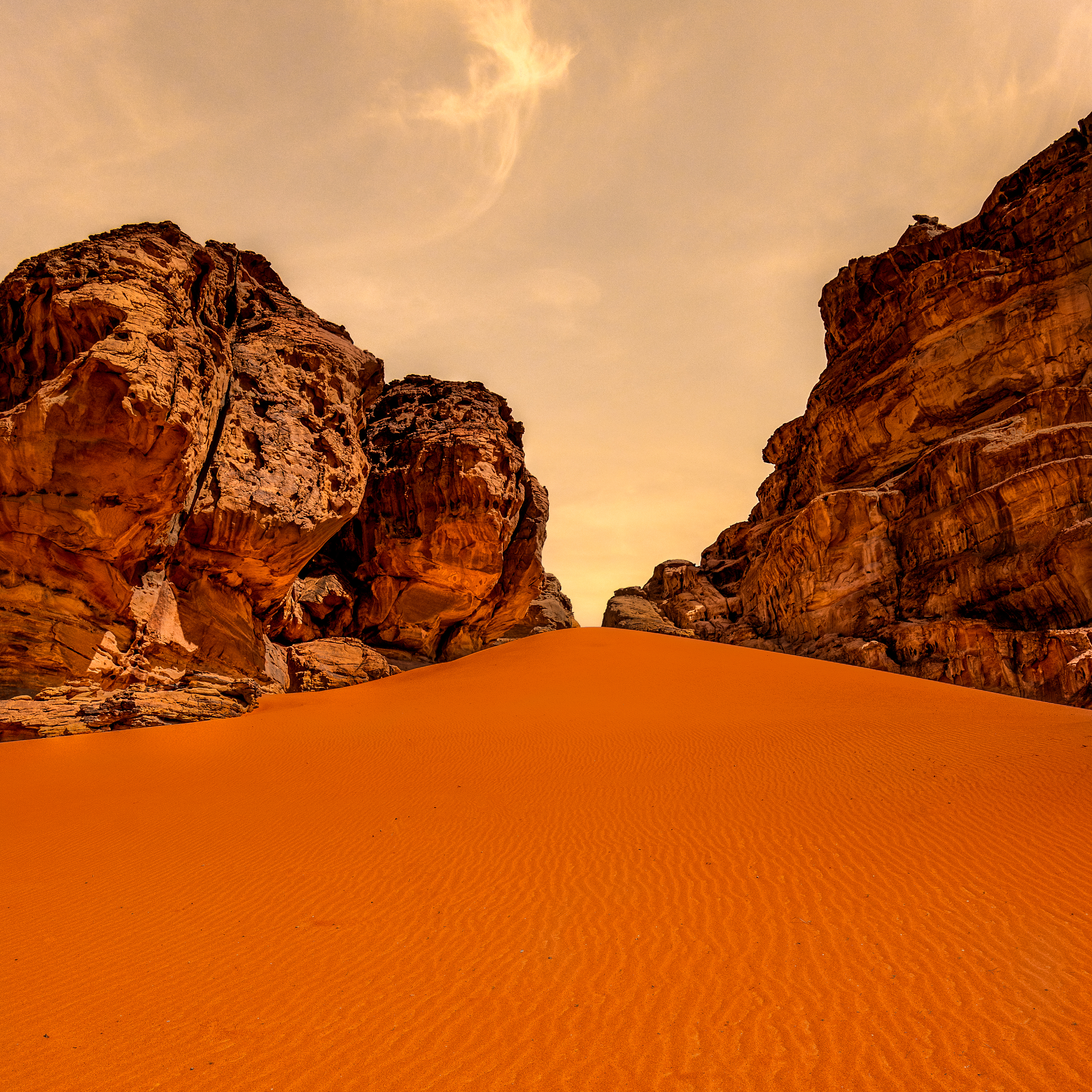 Without doubt, this is one of my favorite images made with the Leica SL in my first six months of ownership. This is partly owed to the weather sealing that made this shot possible - the sky has an orange cast because of the sand being kicked up by the wind. Good time to have weather sealing? When you are standing in the middle of a Jordanian desert photographing miniature orange dust sand crap.