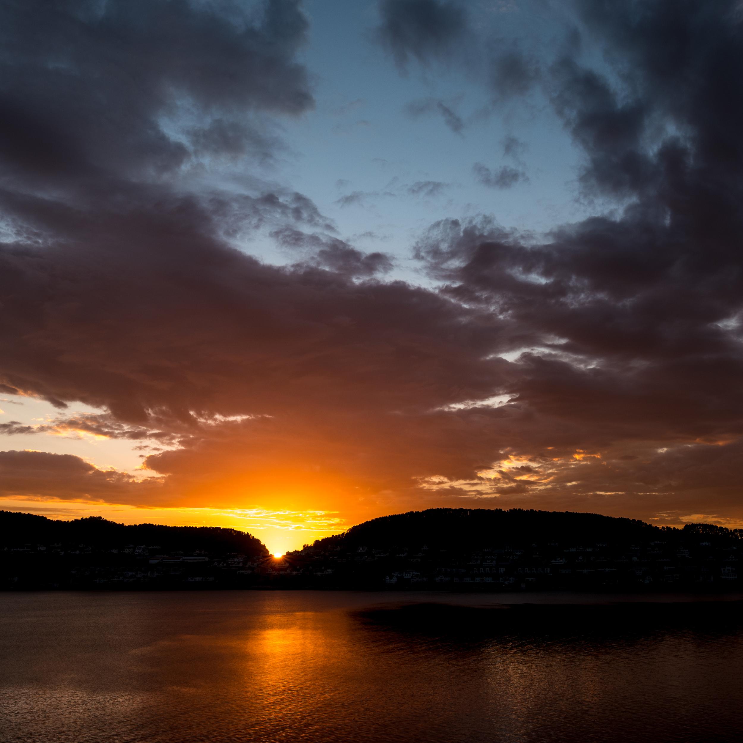 Midnight sun over Norway