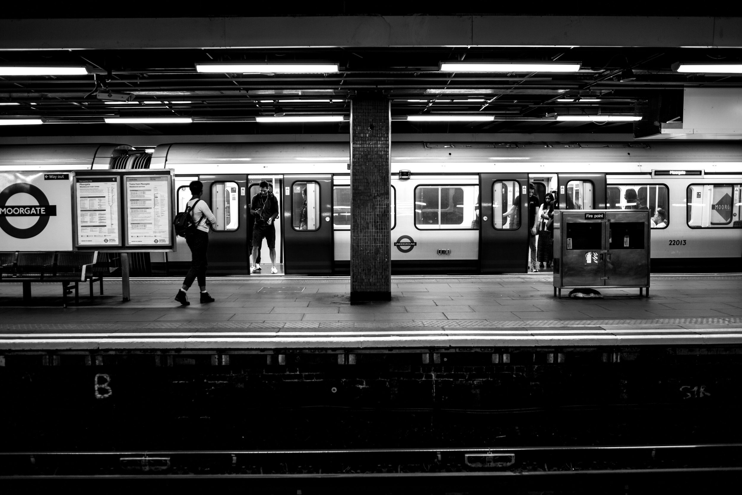 One of the first images I took with my Leica M Monochrom was using the 35mm Summarit in this underground station in London