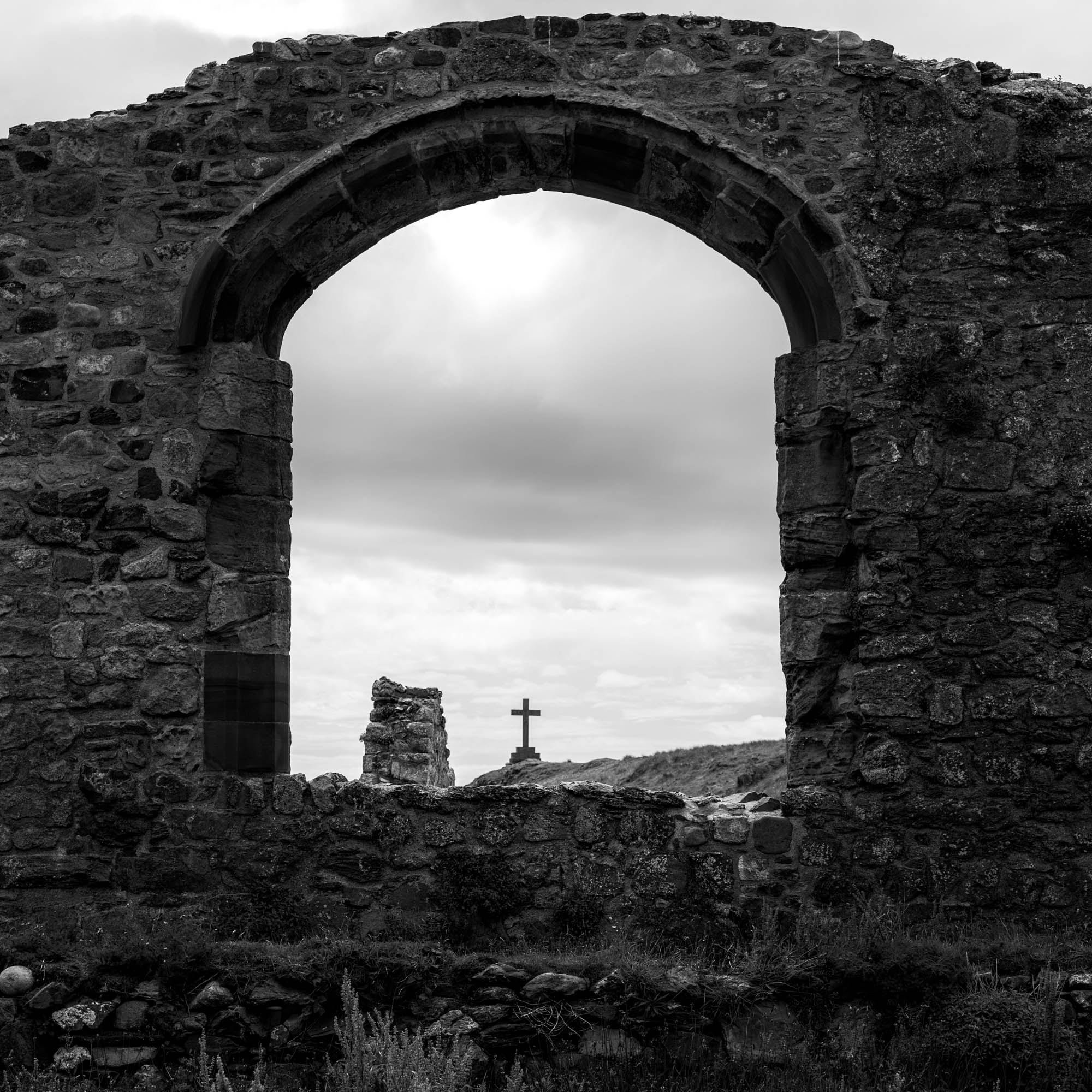 Remains from an old church on Llanddwyn Island