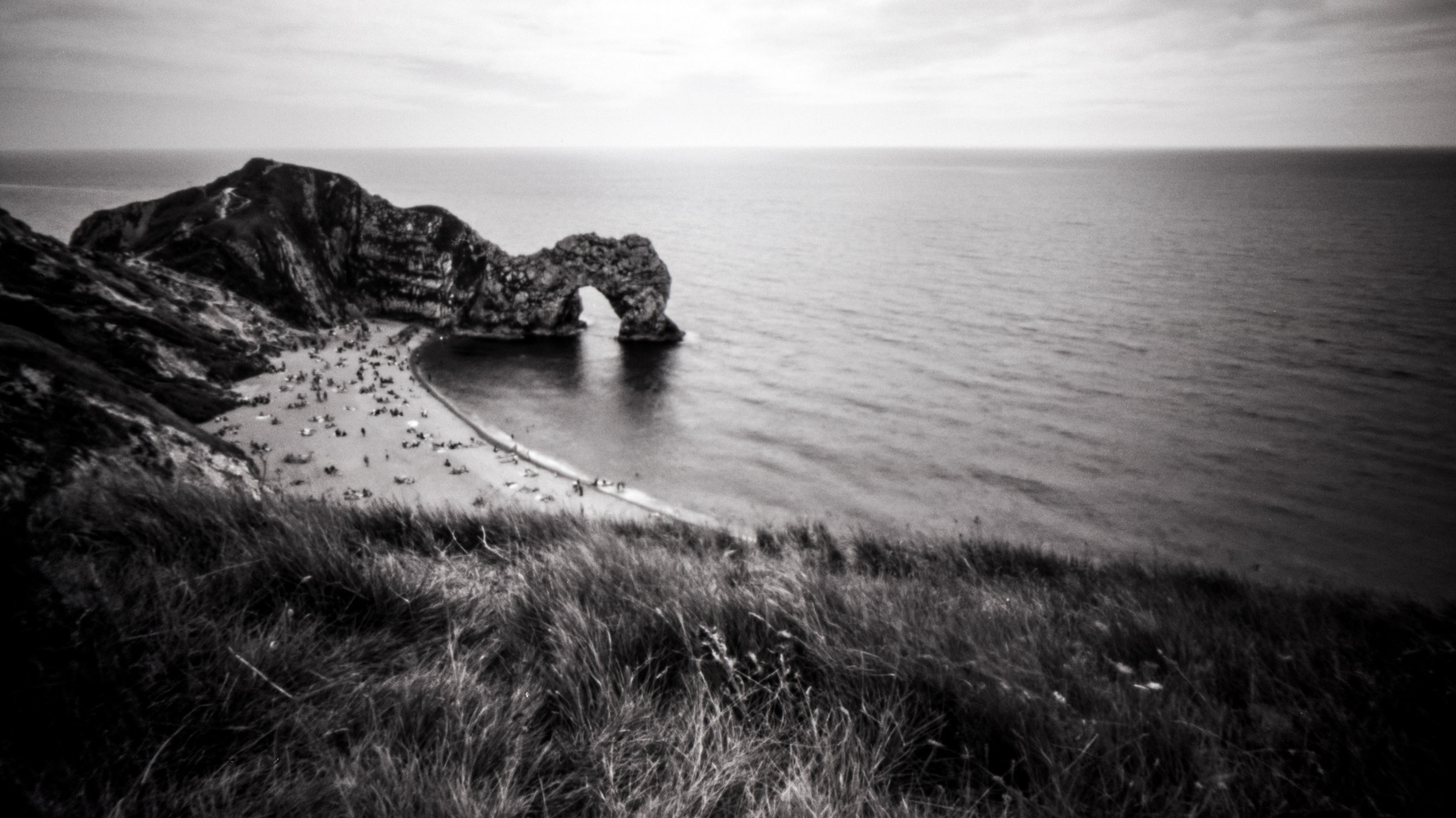 The famous Durdle Door on the Jurassic Coast of England