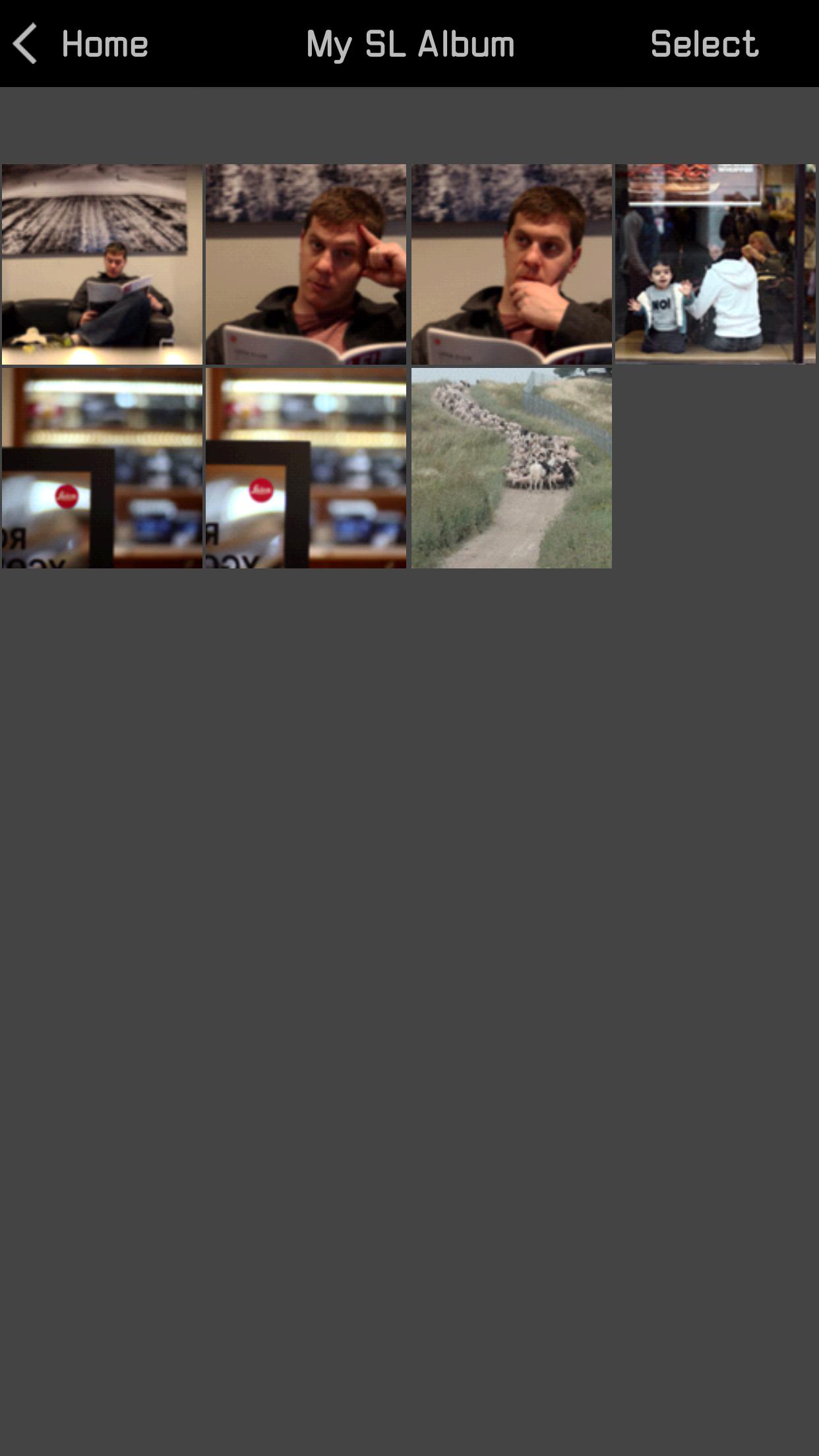 Photos saved in the Leica Photos album..... seems duplicative to me, but no biggie.