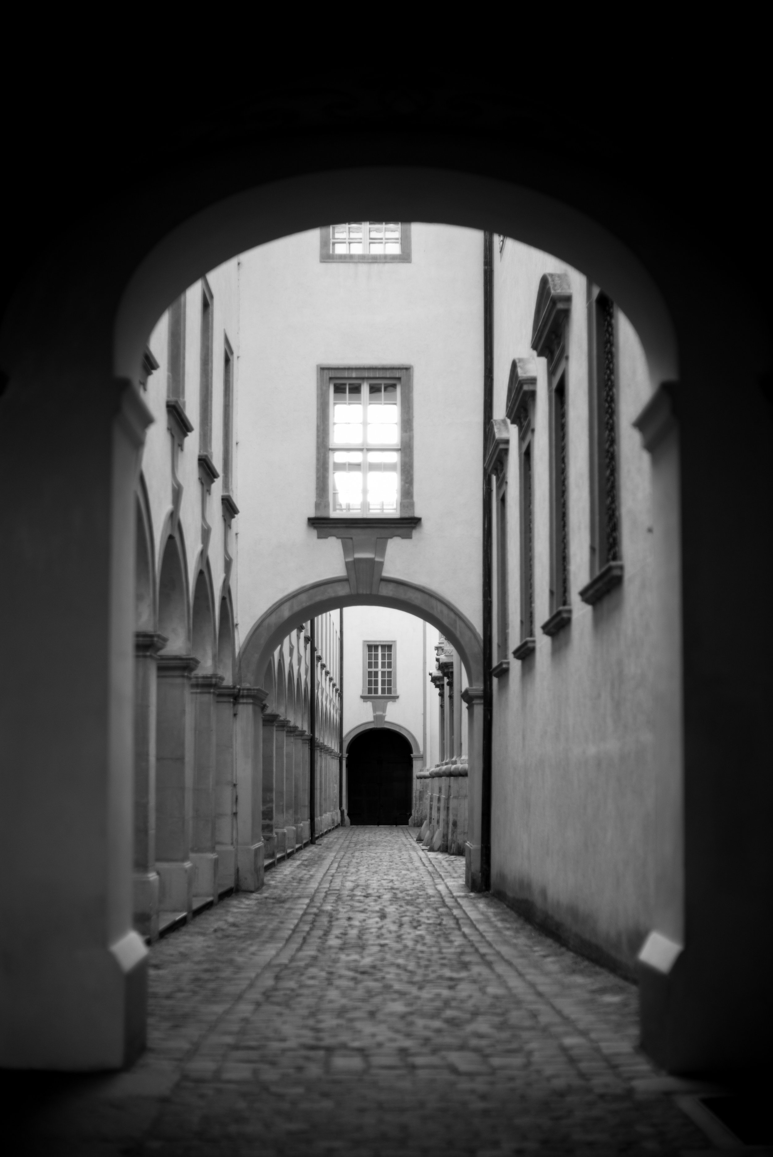 The side street of a monastery in Melk