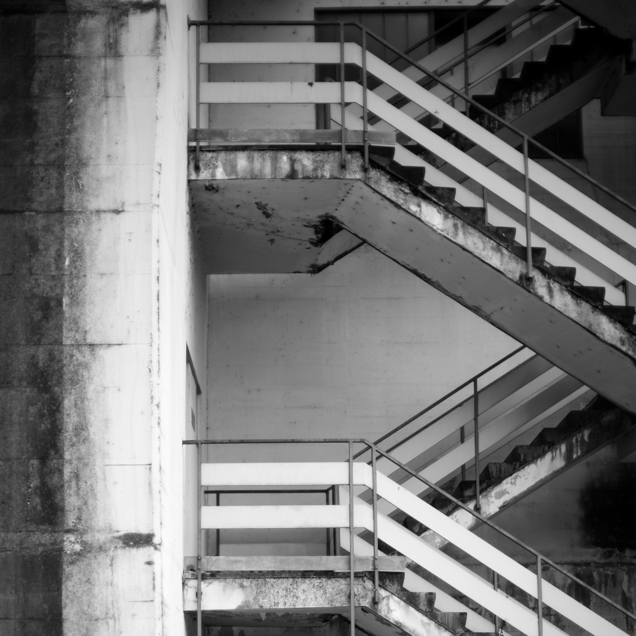 Staircase running along a hydro electric powerplant