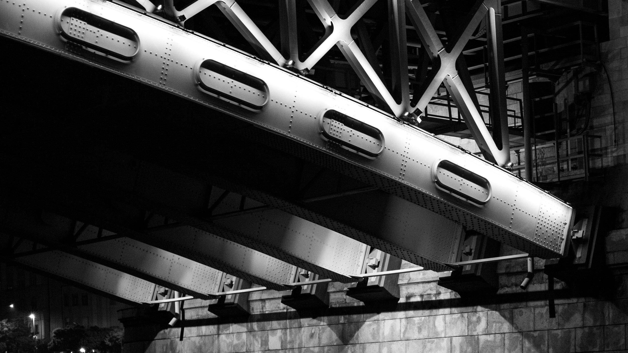 Bridge struts in Budapest, Hungary