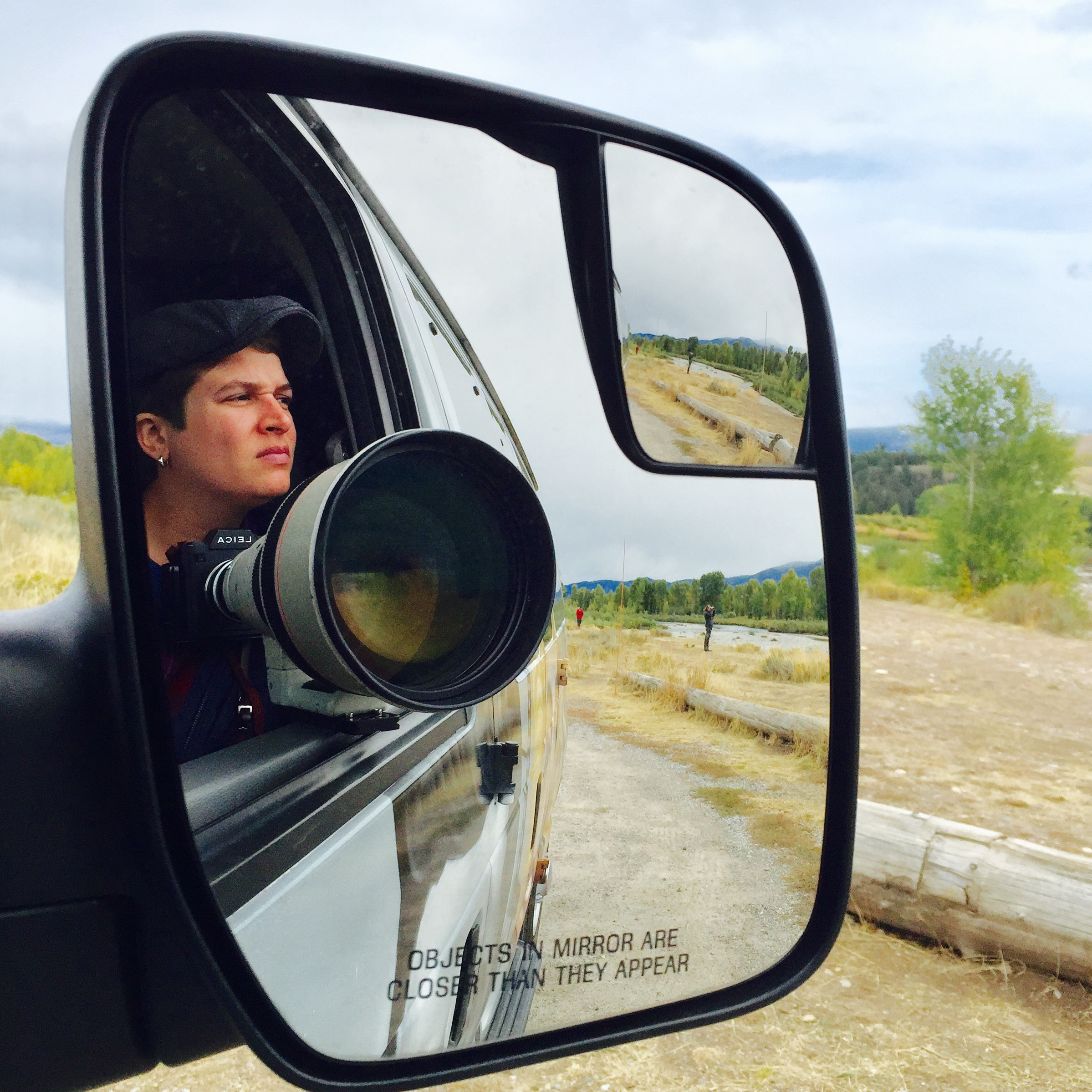 Using the vehicle as a blind while shooting in Grand Teton