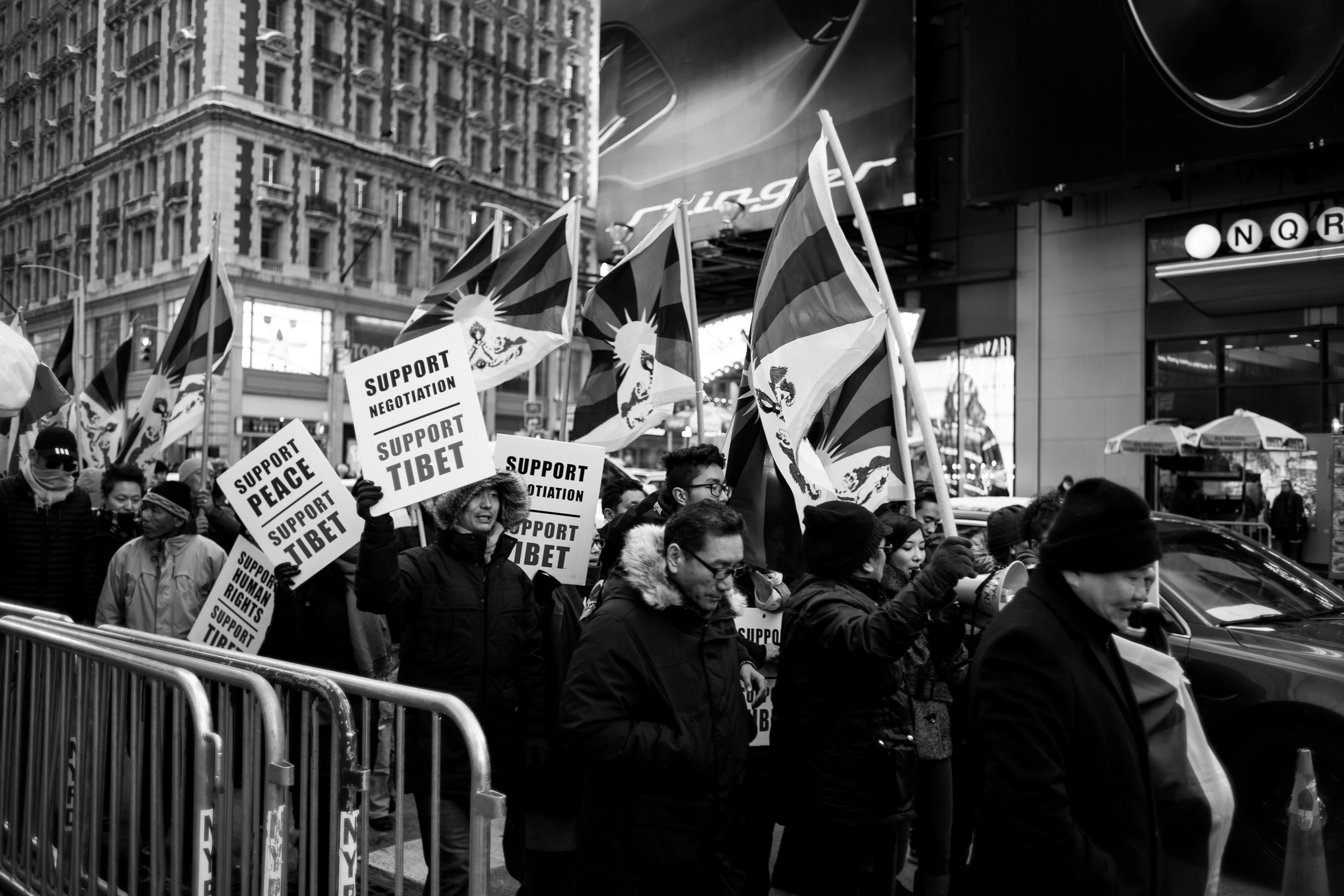 The pro-Tibet rally walked through Times Square demanding peace.  Leica M10 with 35mm Summicron f/2.