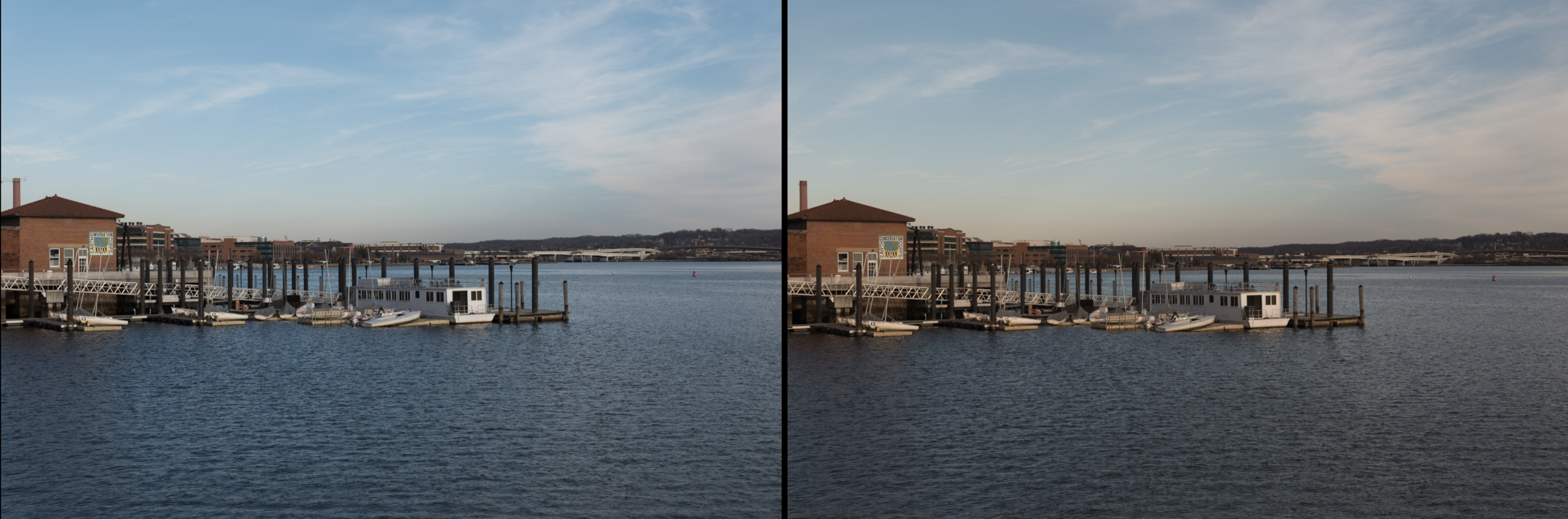 Left:  Leica 24-90mm lens;   Right: Nikon 24-70mm lens Both images taken with the Leica SL at 50mm, f/11