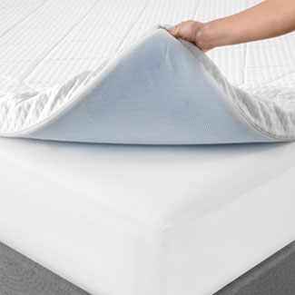 Random mattress topper from Bed, Bath & Beyond... much better
