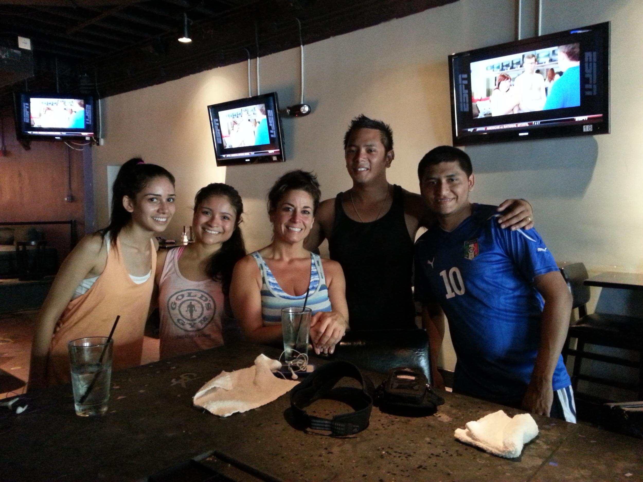 Rime, Gladys, Ardemis, Kevin, Juan  Yay newbies!!!
