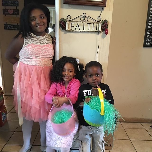 Happy Easter to our Blaze family from my little Easter Bunny, niece and nephew.