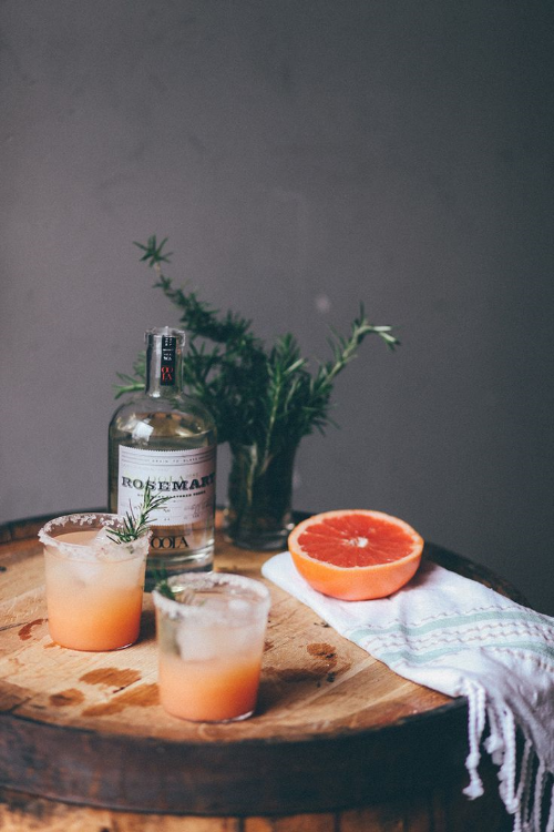 ROSEMARY SALTY DOG: 2 oz. OOLA Rosemary Vodka 4 oz. freshly squeezed grapefruit juice. And don't forget the salt rim on the glass!