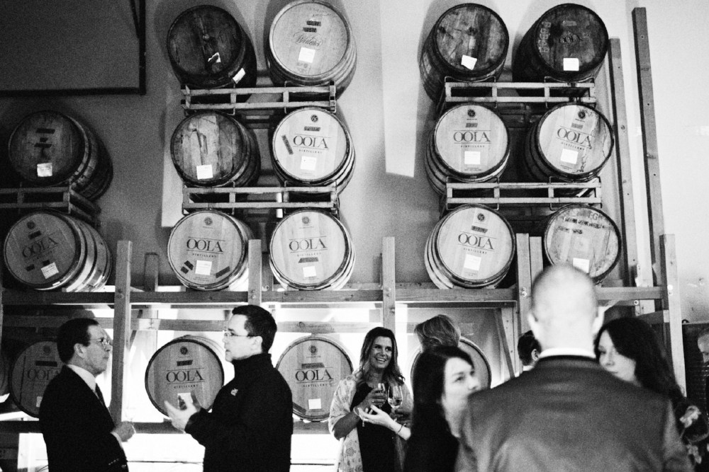 The Barrel Room in OOLA Distillery photo courtesy of  Jenny Jimenez