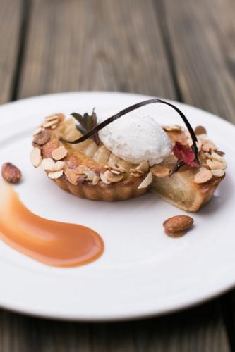Frangipane Pear Tart Photo by Matthew Land Photography