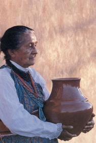 Margaret Tafoya, grandmother of Jeff Roller. Photo by Susan Peterson