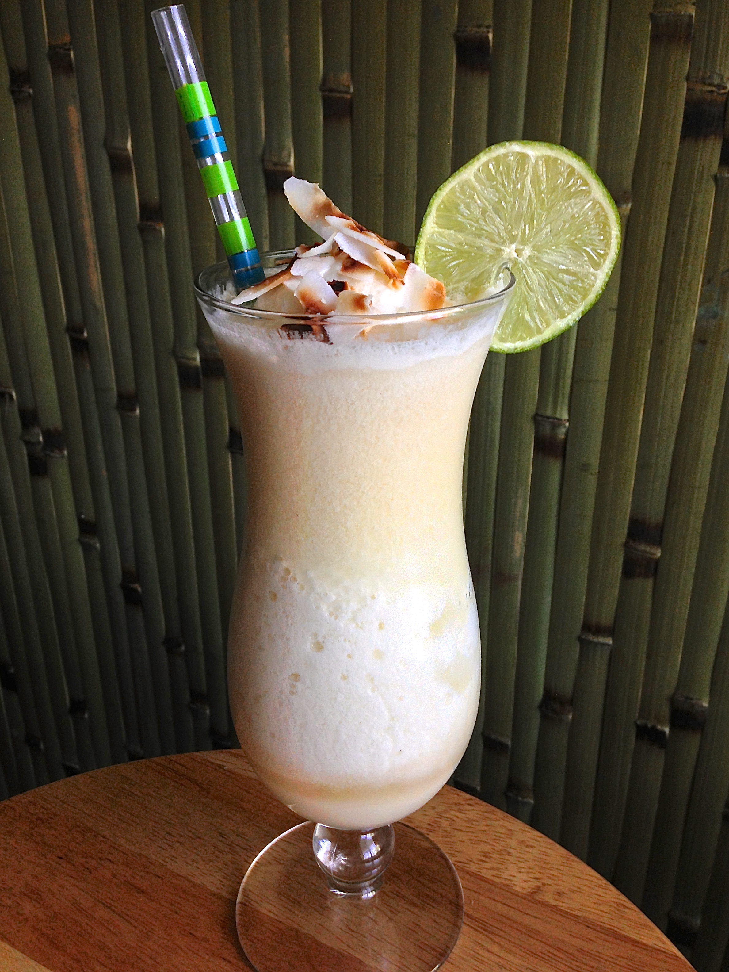 The Floridian Sinkhole was the result of marrying two of our most popular cocktails and blending them. Pineapple Mystery Drink and Coconut Mele were meant to be together.