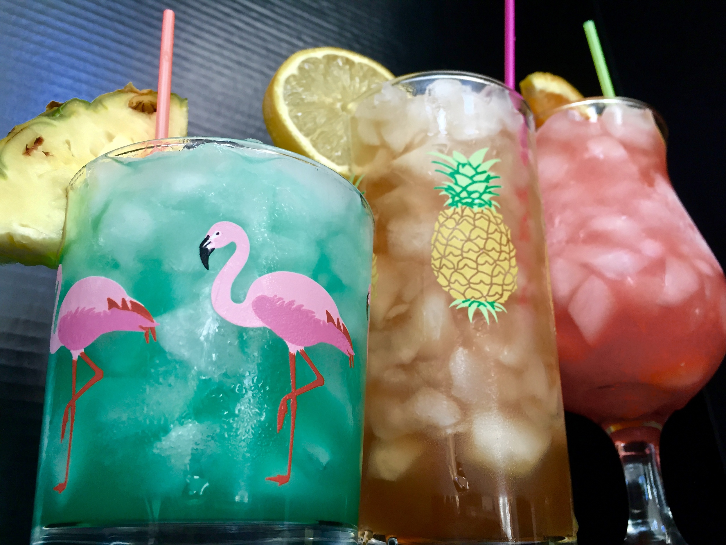 From Left: Blue Hawaiian'd, Maui Iced Tea, Just Sex
