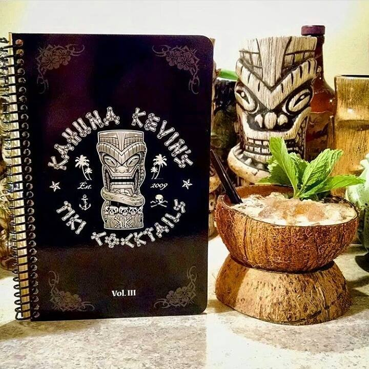 Not only does Kahuna Kevin have three great cocktail books, but he has released a sweet tiki mug that is ripe for sipping from.