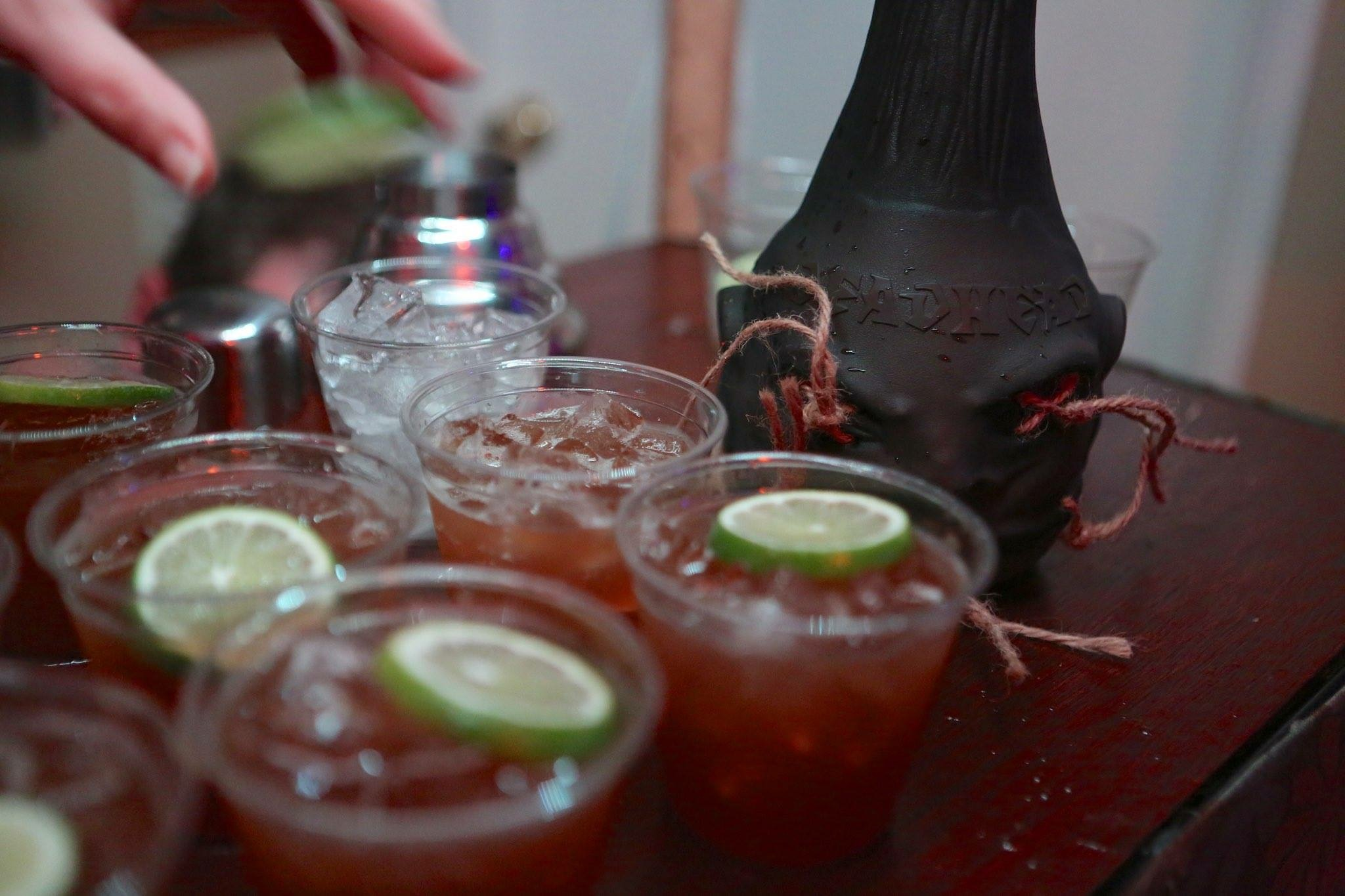 Photo by Kari Hendler: we served 158 of these at our room party sponsored by  Deadhead  aged rum