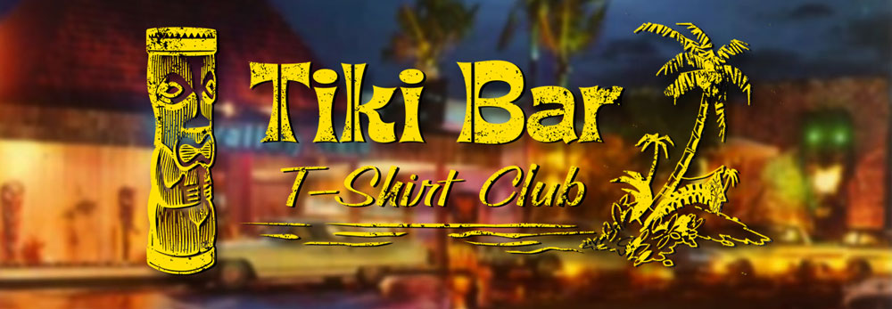 Our friends at  Tiki Bar T-Shirt Club  are creating awesome shirts with vintage tiki bar logos.  A new one each month.  The shirts feel great and come in mens and ladies sizes.  When you join the club, tell them Zen Tiki Lounge sent you in the comment section.  :)