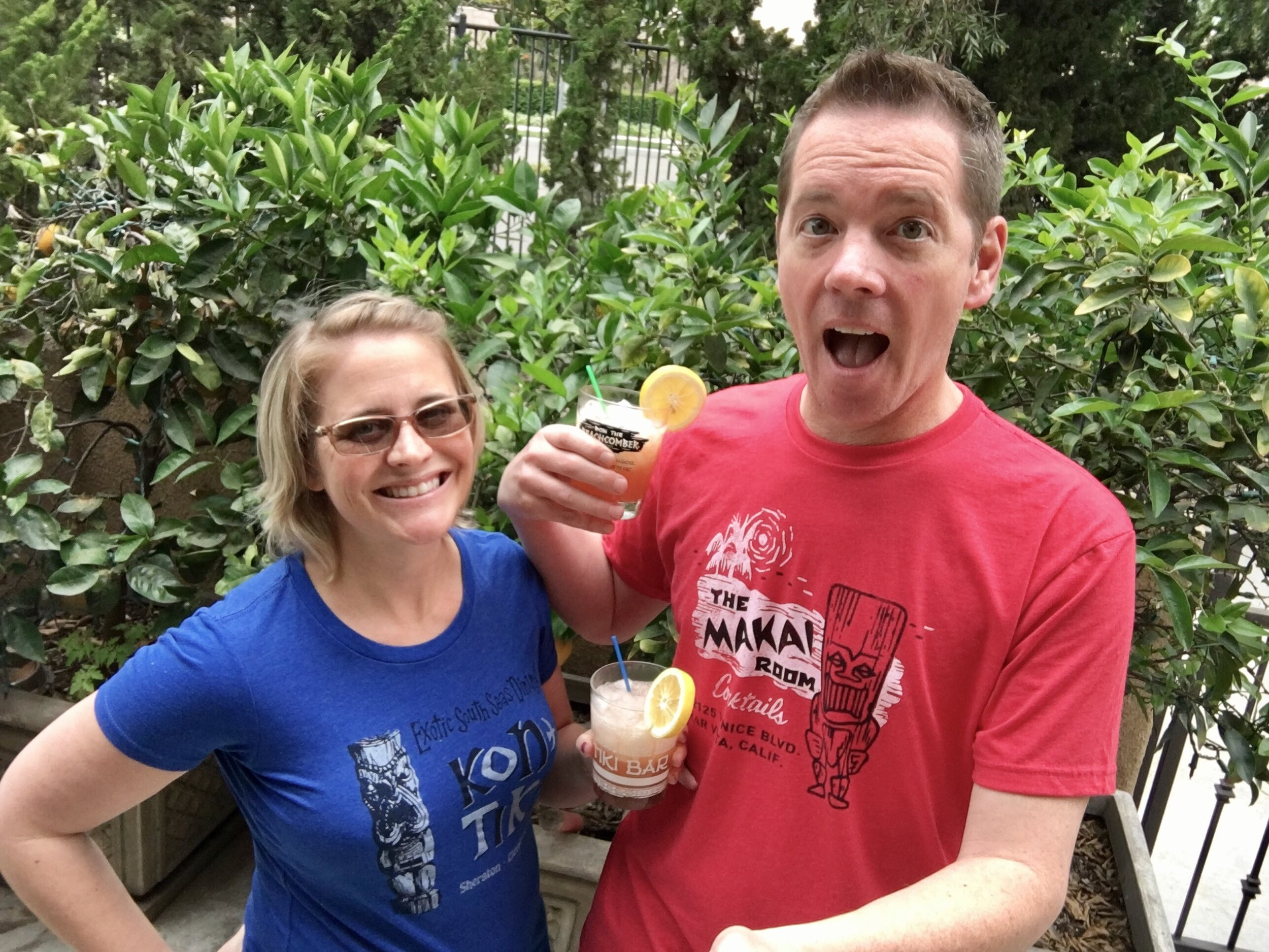 Starshine and Sunshine enjoy our latest cocktail while showing off their  Tiki Bar T-Shirt Club  shirts. Don't we look like a fun bunch?